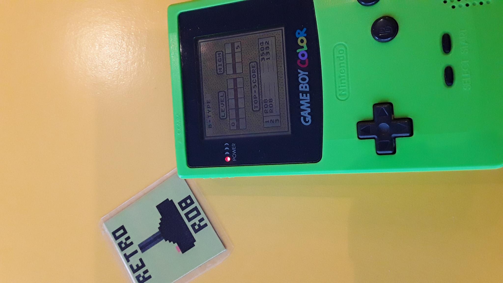 RetroRob: Tetris: Type B [Level 0 / High 5] (Game Boy) 3,504 points on 2020-10-03 11:18:37