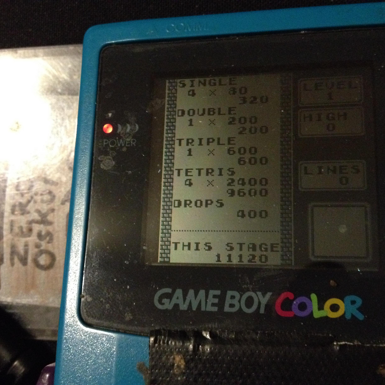 zerooskul: Tetris: Type B [Level 1 / High 0] (Game Boy) 11,120 points on 2019-12-05 15:20:24
