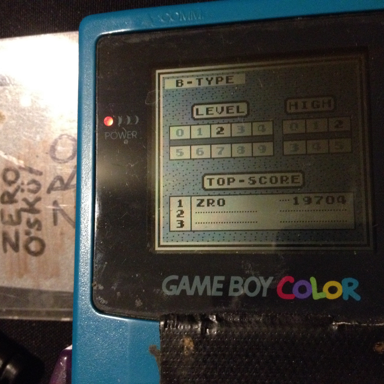 Tetris: Type B [Level 2 / High 2] 19,704 points