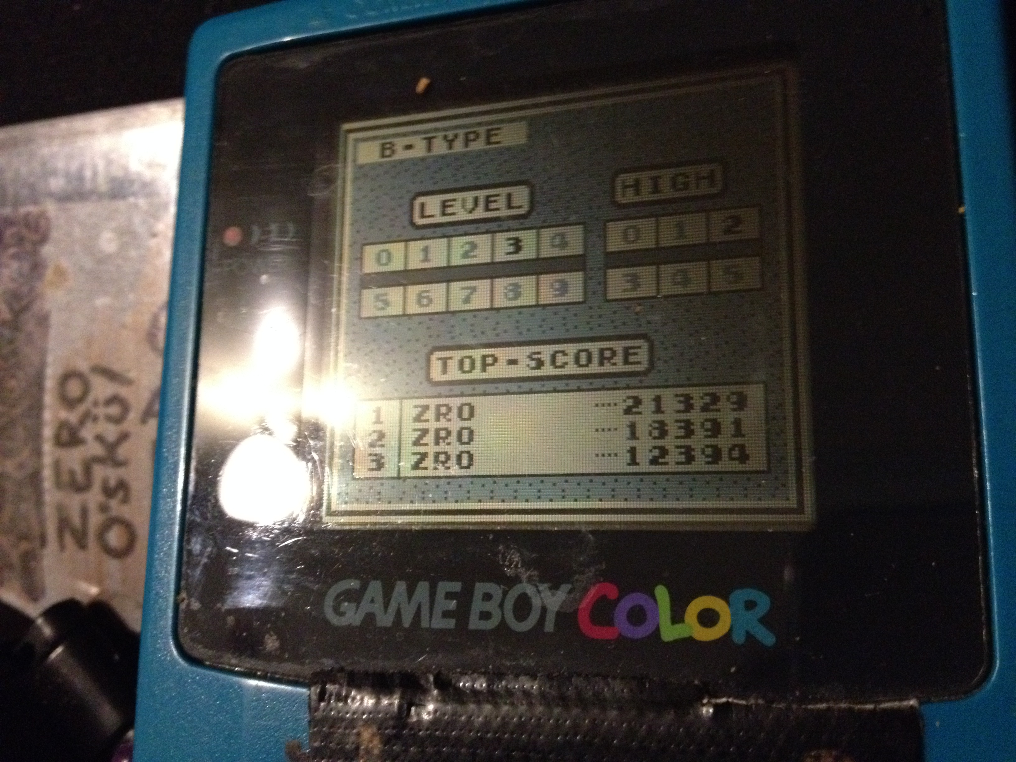 zerooskul: Tetris: Type B [Level 3 / High 2] (Game Boy) 21,329 points on 2019-12-06 22:25:55