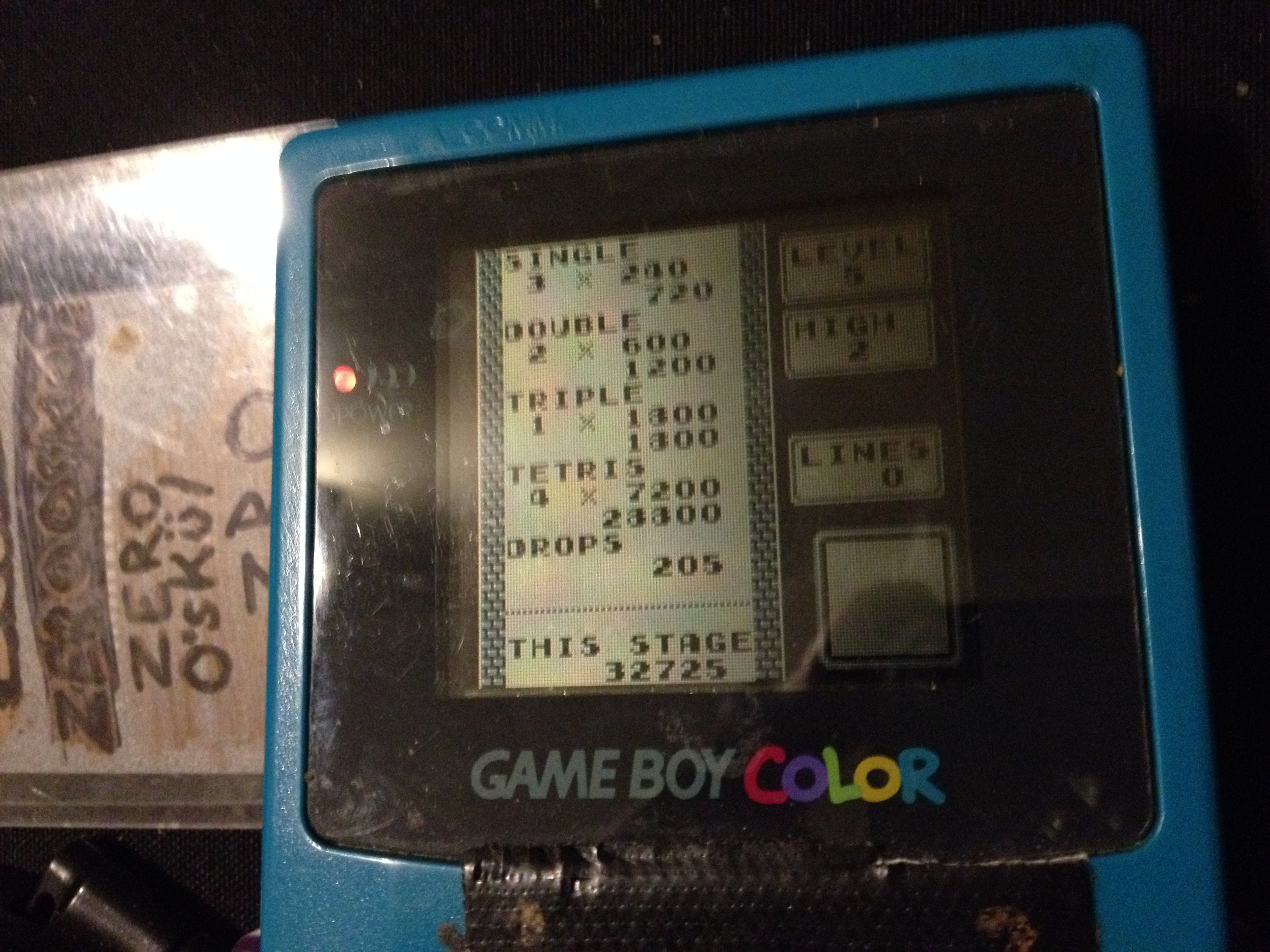 zerooskul: Tetris: Type B [Level 5 / High 2] (Game Boy) 32,725 points on 2019-12-09 19:08:03