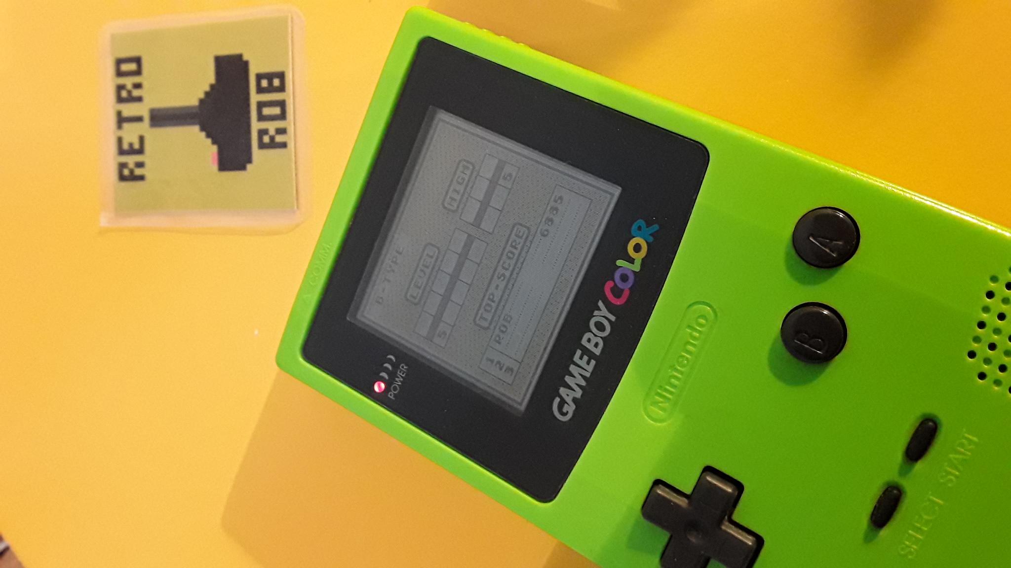 RetroRob: Tetris: Type B [Level 5 / High 5] (Game Boy) 6,885 points on 2020-10-03 10:40:31