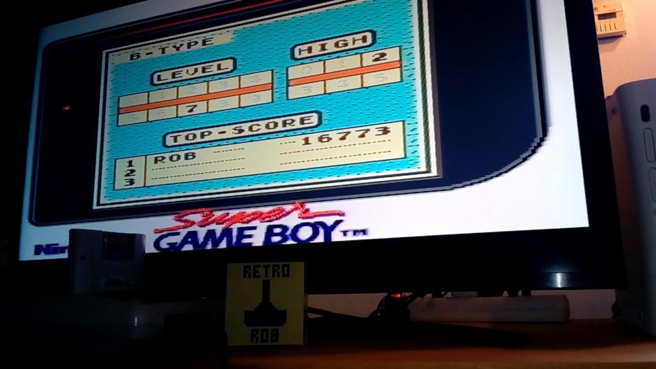 RetroRob: Tetris: Type B [Level 7 / High 2] (Game Boy) 16,773 points on 2020-12-31 04:45:30