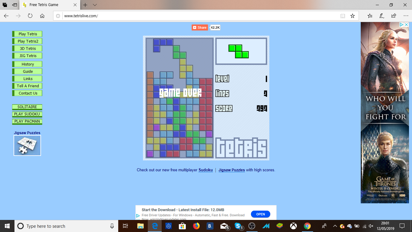 Tetris 797 points