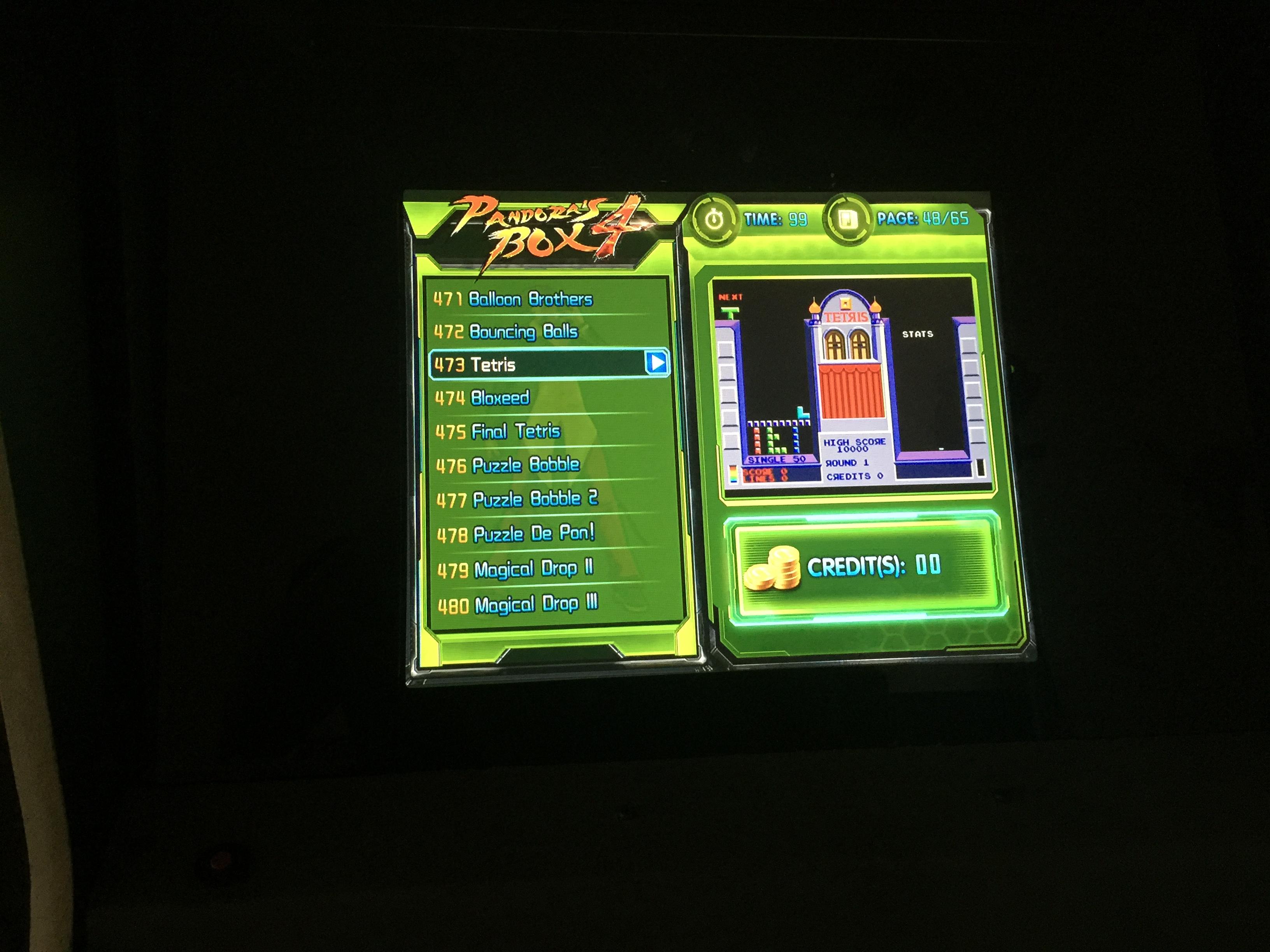 derek: Tetris [easy] (Jamma Pandora