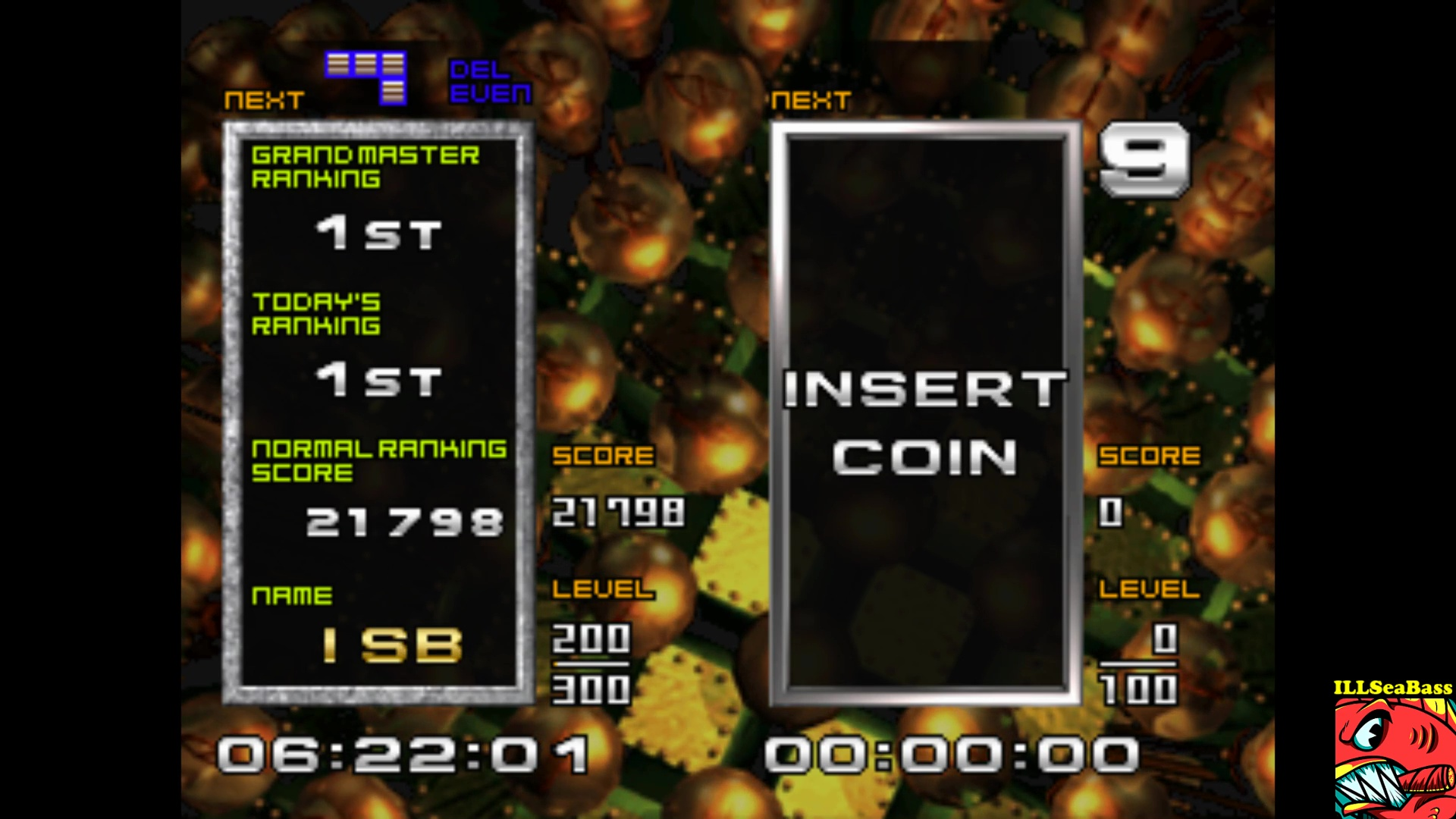 ILLSeaBass: Tetris the Absolute The Grand Master 2 [tgm2] (Arcade Emulated / M.A.M.E.) 21,798 points on 2017-10-01 22:43:12