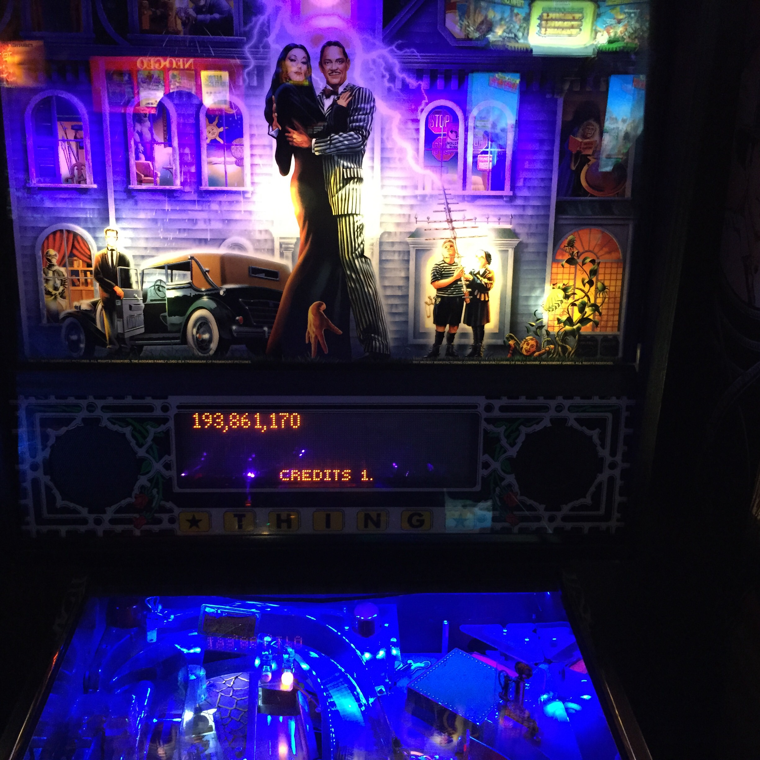 FosterAMF: The Addams Family (Pinball: 3 Balls) 193,861,170 points on 2015-07-02 11:39:32