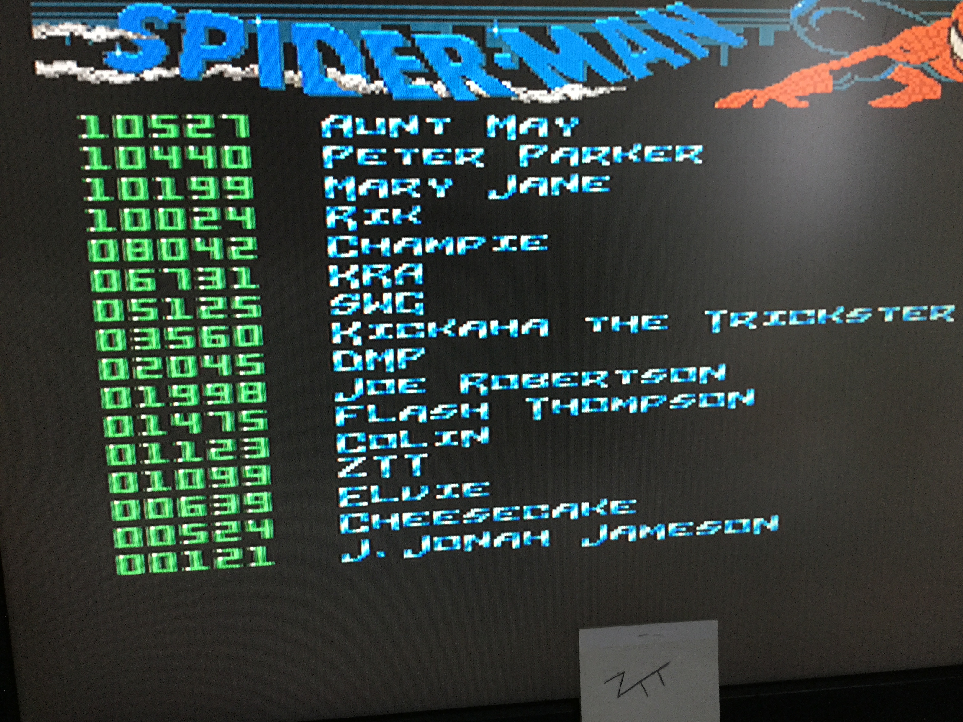 Frankie: The Amazing Spider-Man (Amiga) 1,099 points on 2018-11-27 22:26:55