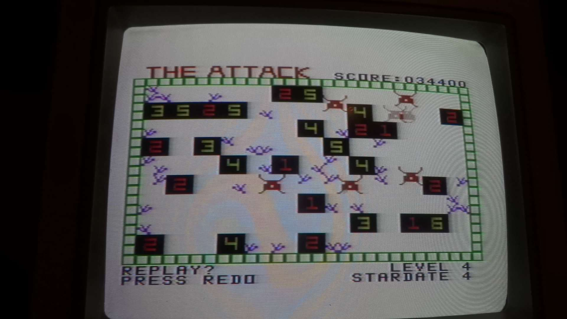 plus4punk: The Attack [Pro] (TI 99/4A) 34,400 points on 2020-05-12 16:44:38
