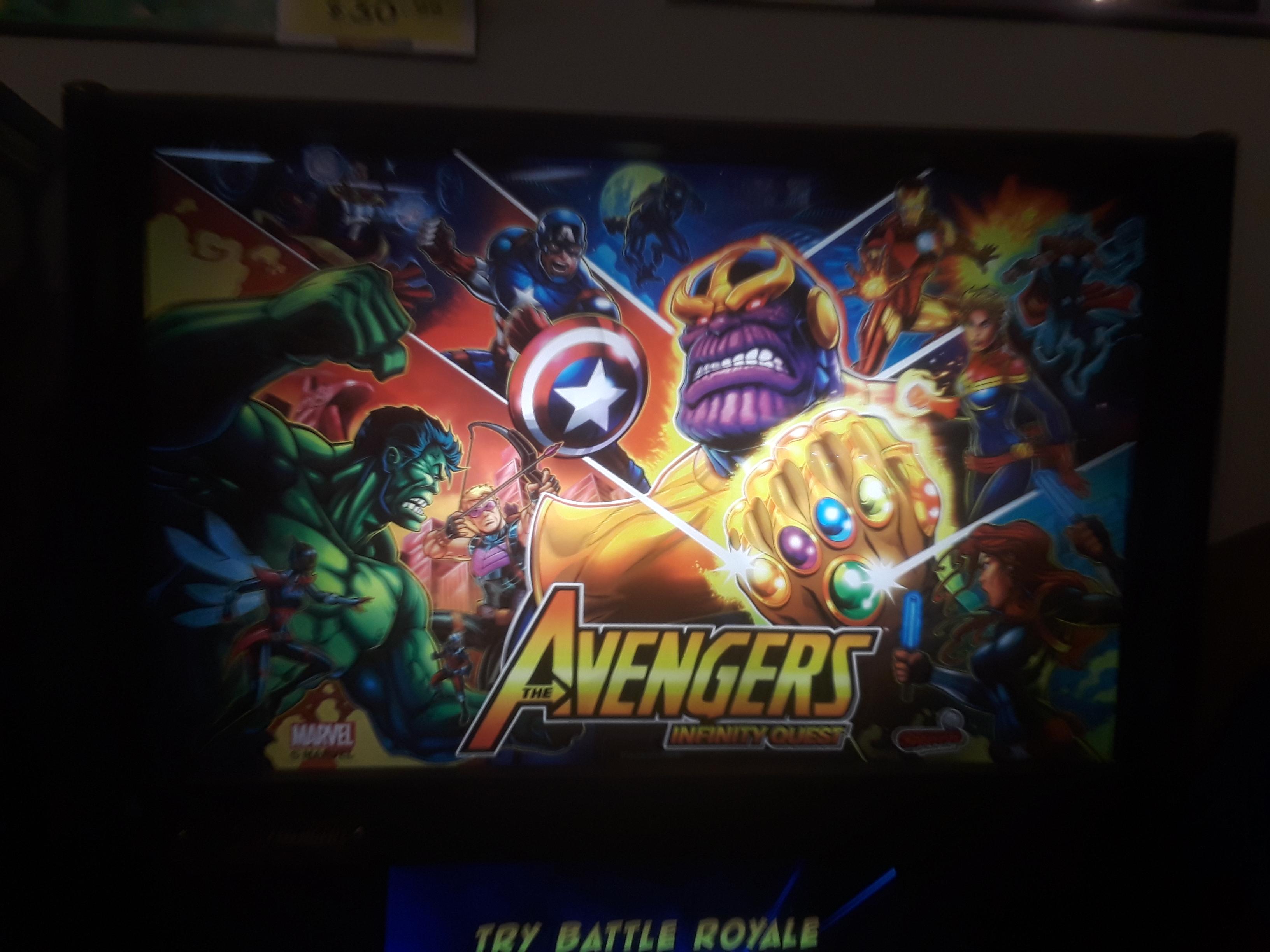 JML101582: The Avengers [Pro] (Pinball: 3 Balls) 19,956,640 points on 2021-03-26 16:47:56