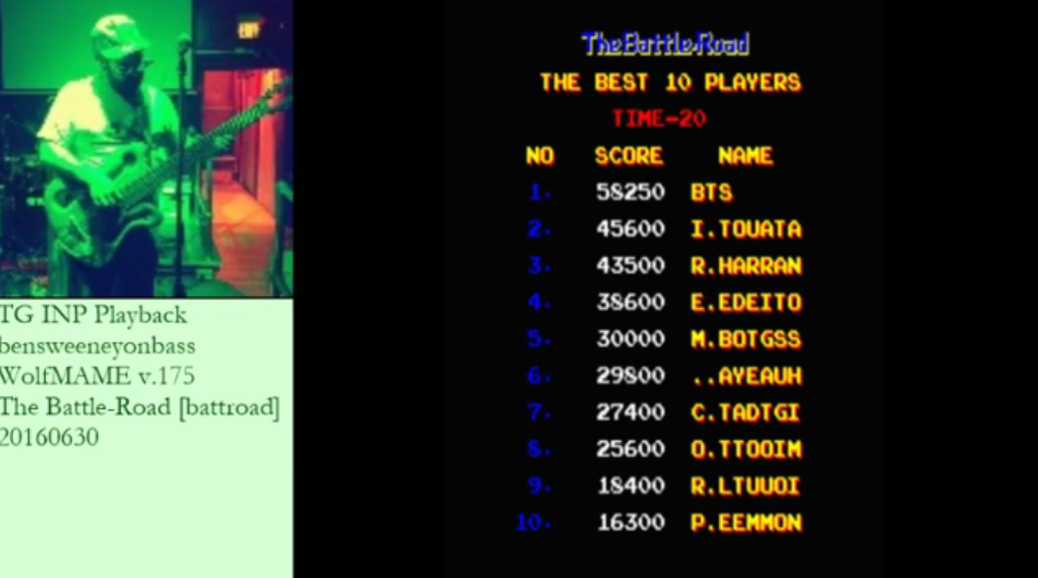 bensweeneyonbass: The Battle-Road [battroad] (Arcade Emulated / M.A.M.E.) 58,250 points on 2016-06-30 12:38:04