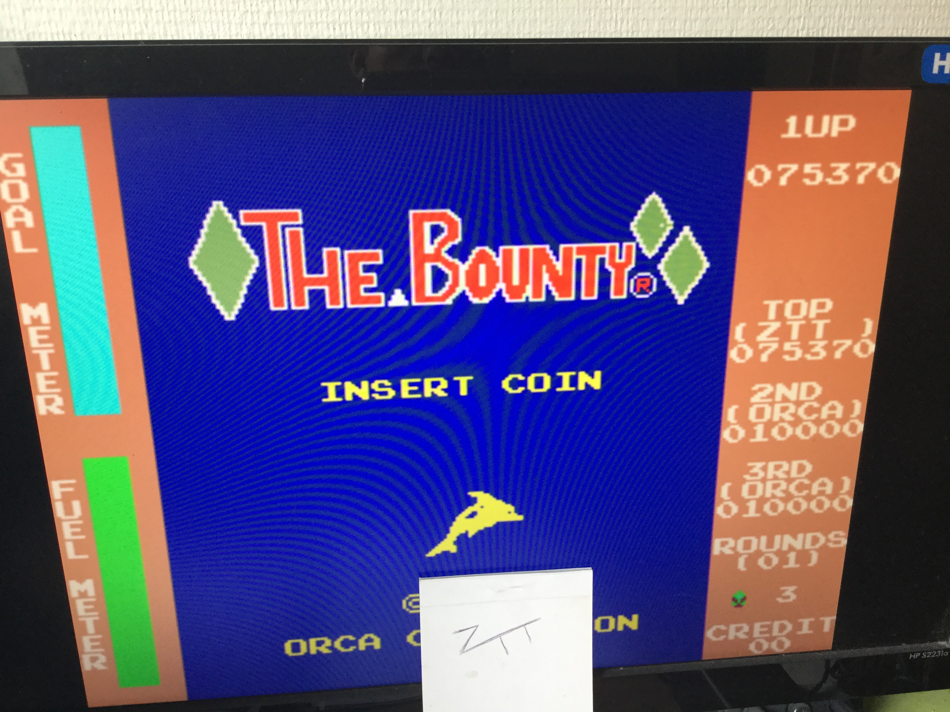 Frankie: The Bounty [bounty] (Arcade Emulated / M.A.M.E.) 75,370 points on 2017-08-19 04:51:52