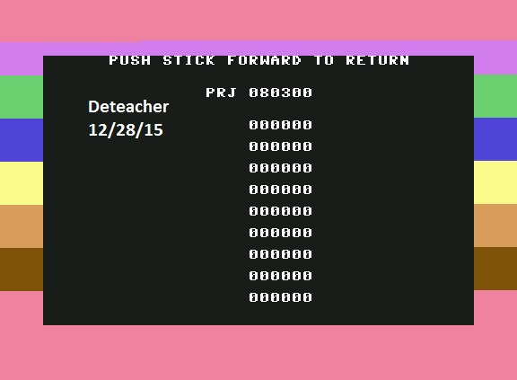 Deteacher: The Cosmic Tunnels (Commodore 64 Emulated) 80,300 points on 2015-12-28 19:47:52