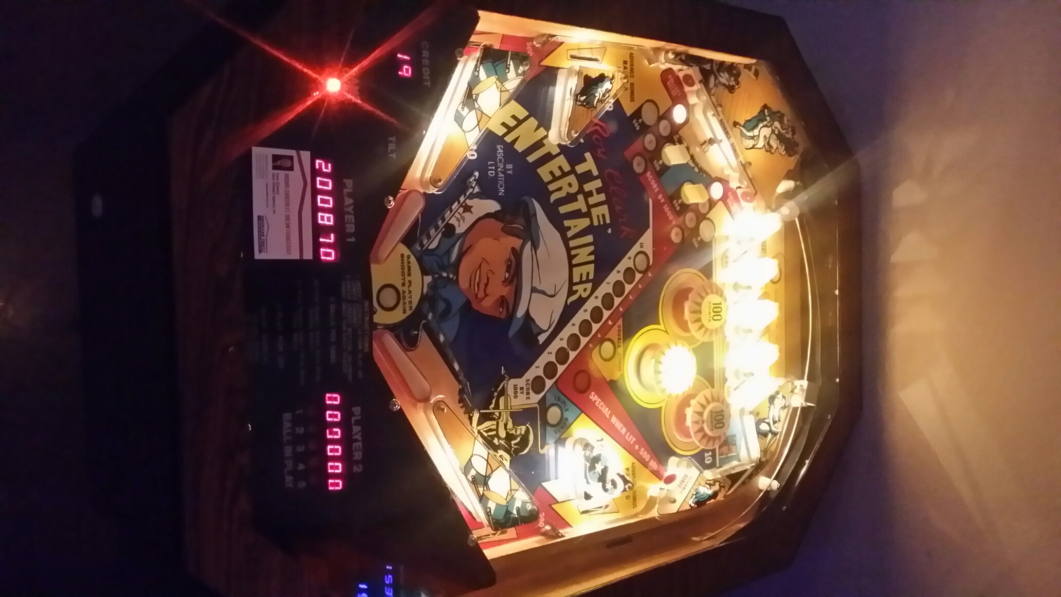 SeanStewart: The Entertainer [aka Roy Clark The Entertainer] (Pinball: 5 Balls) 200,870 points on 2016-12-10 12:44:08