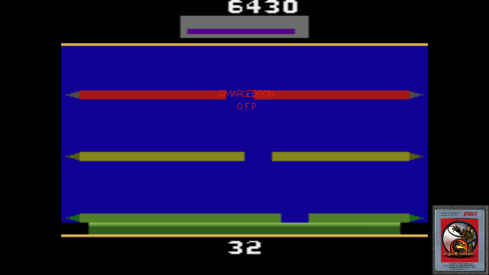 omargeddon: The Entity (Atari 2600 Emulated) 6,430 points on 2017-02-21 00:09:11