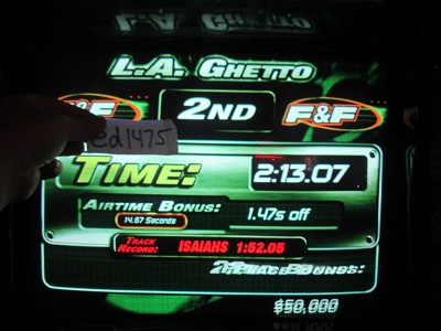 ed1475: The Fast And The Furious: L.A. Ghetto (Arcade) 0:02:13.07 points on 2018-05-17 23:40:23