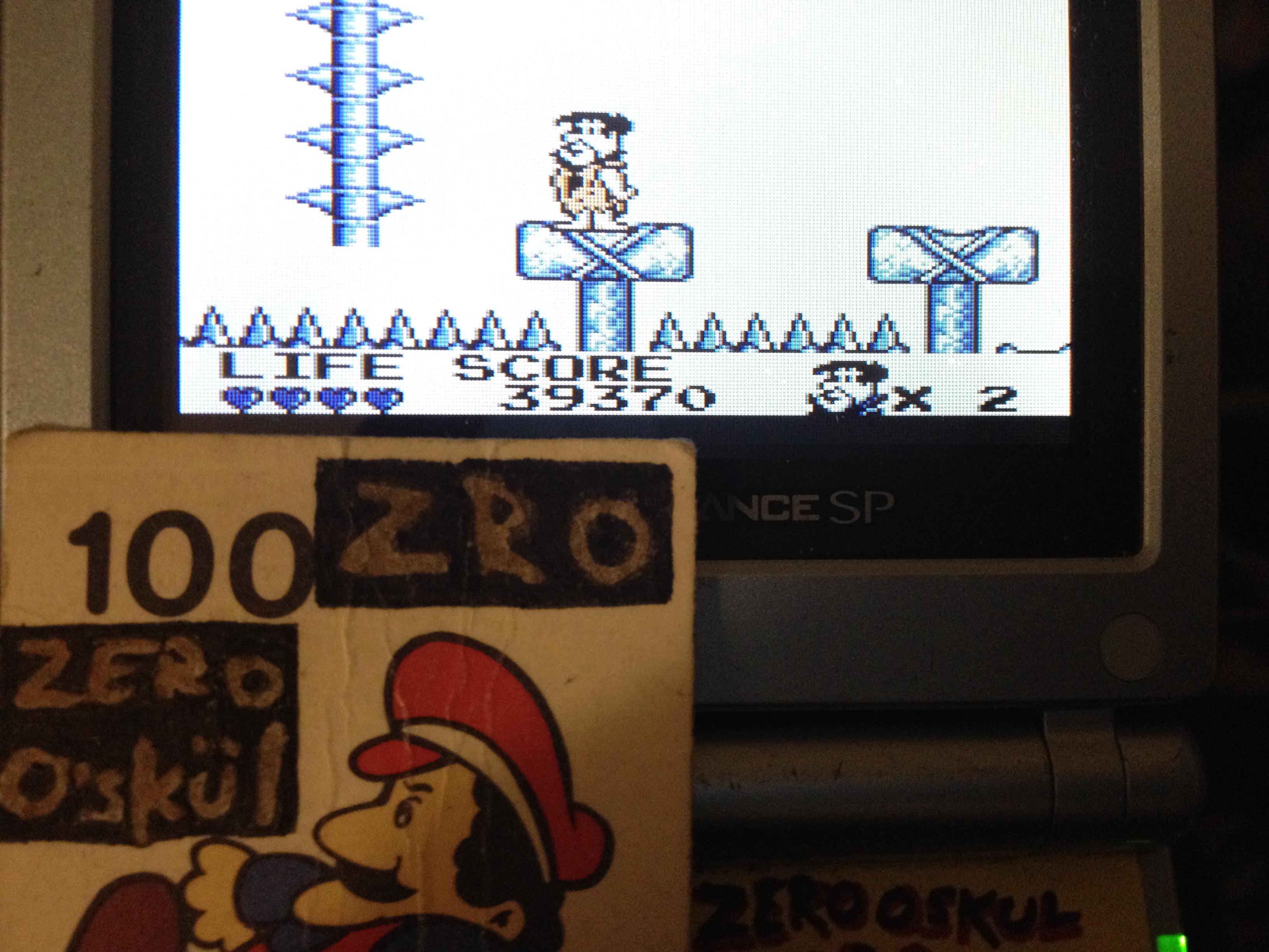 zerooskul: The Flintstones: King Rock Treasure Island (Game Boy) 39,370 points on 2019-05-09 00:16:56