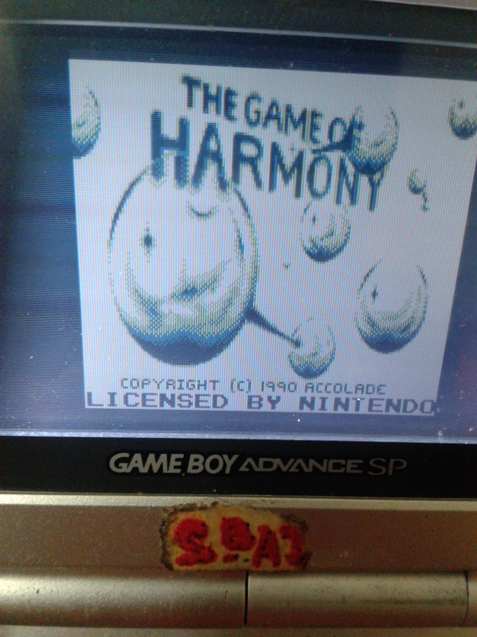 ESSdotBAZ: The Game Of Harmony (Game Boy) 91,750 points on 2020-01-11 21:46:14