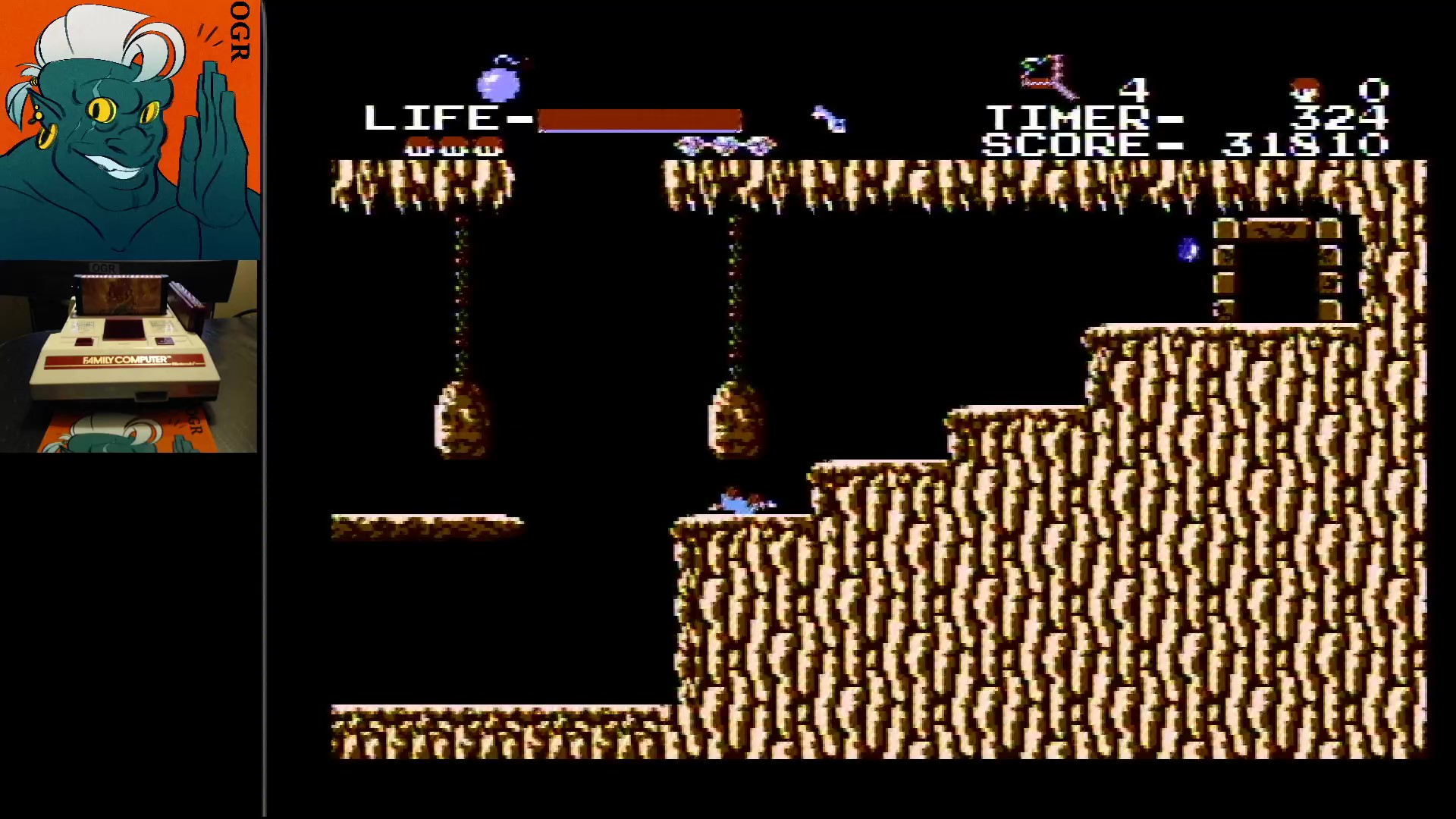 AwesomeOgre: The Goonies (NES/Famicom) 31,810 points on 2020-02-14 21:33:10