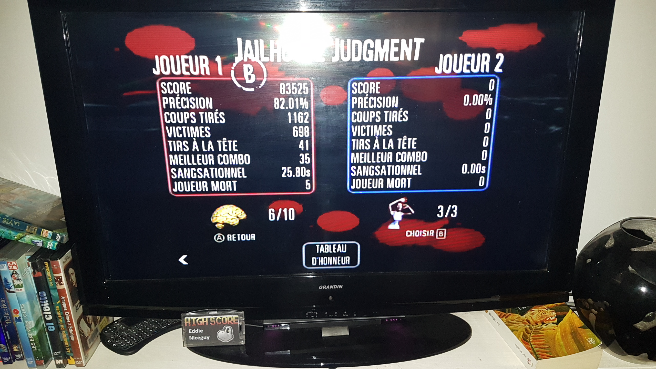 EddieNiceguy: The House Of The Dead: Overkill: Story Mode: Jailhouse Judgement (Wii) 83,525 points on 2020-02-14 16:45:52