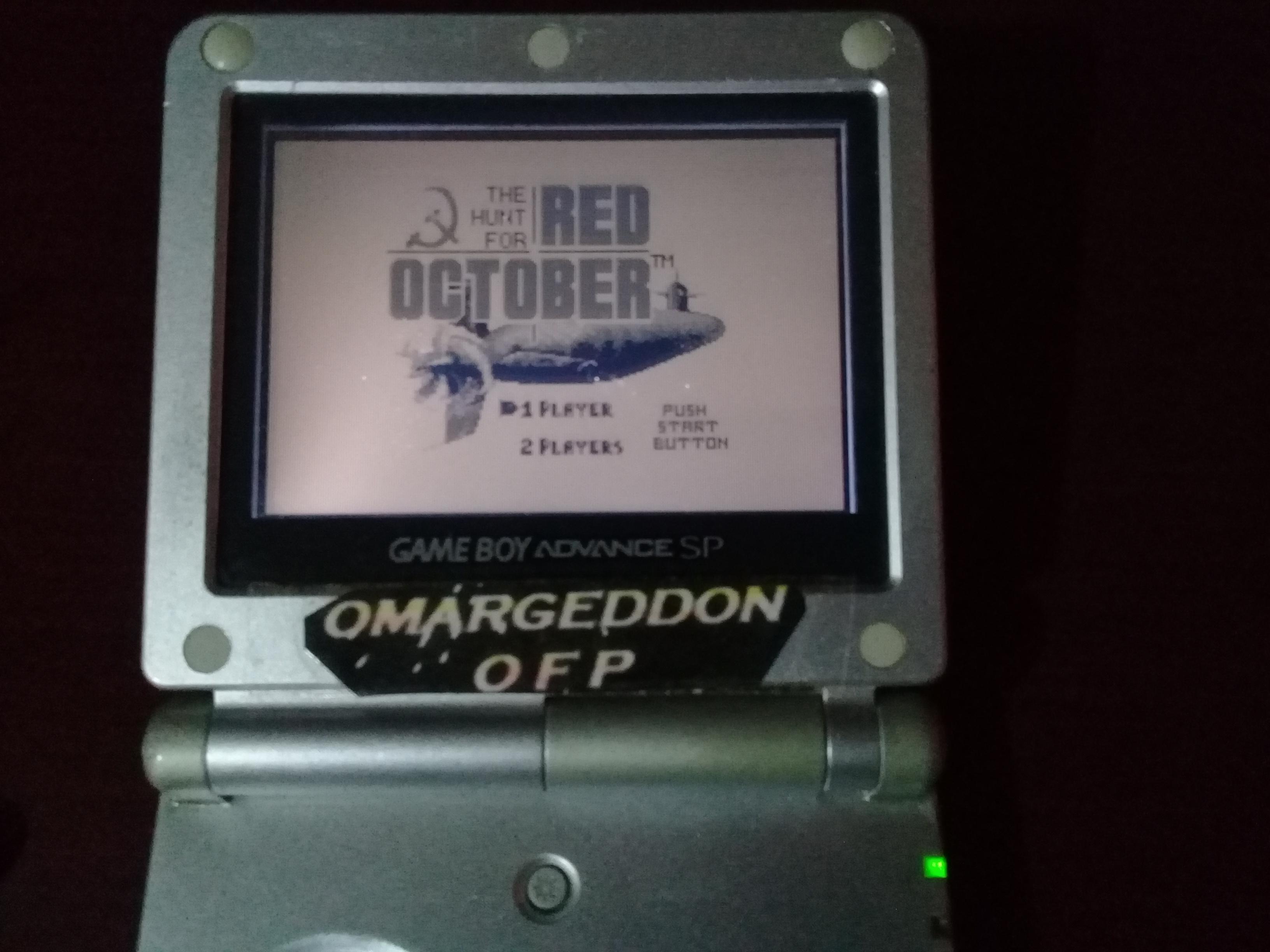 omargeddon: The Hunt For Red October (Game Boy Emulated) 275 points on 2019-04-16 13:47:53