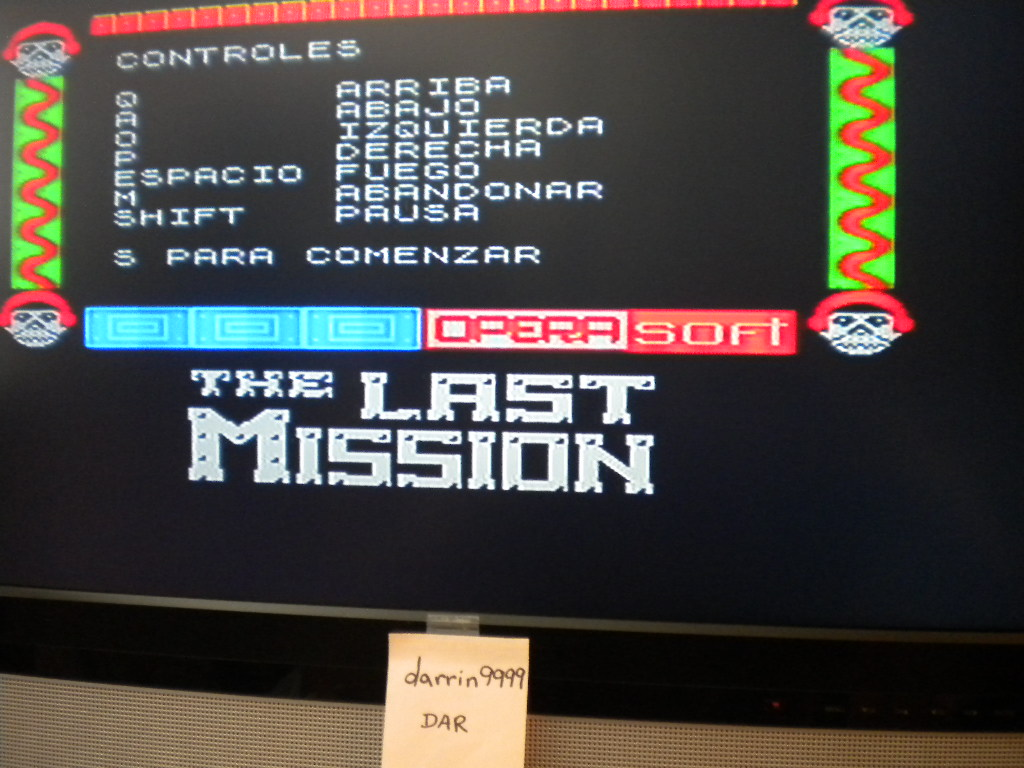 darrin9999: The Last Mission [Opera Soft] (ZX Spectrum Emulated) 33,200 points on 2017-04-25 12:15:10
