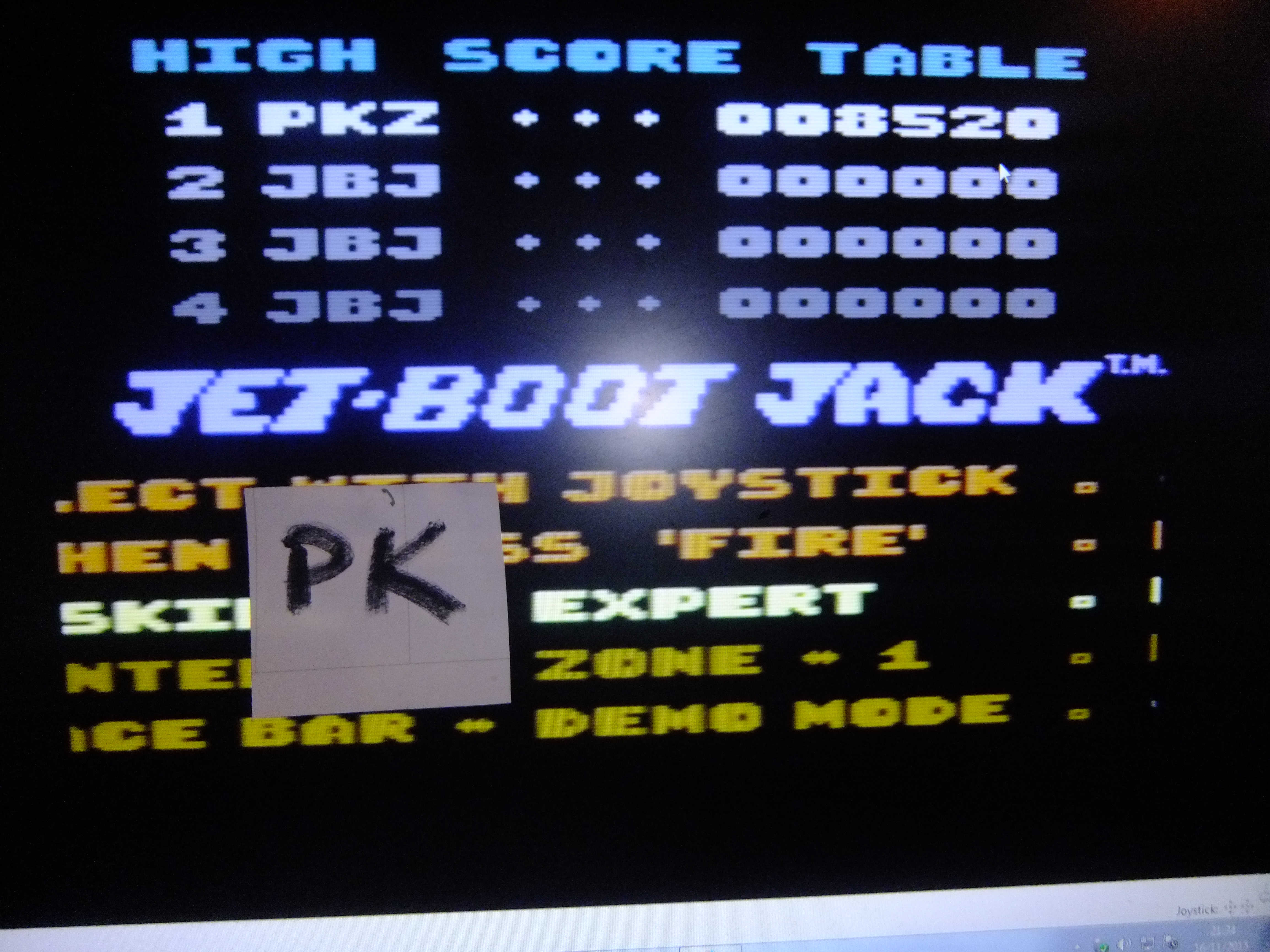 kernzy: The Legend Of Jet-Boot Jack [Expert] (Commodore 64 Emulated) 8,520 points on 2015-11-16 15:40:29