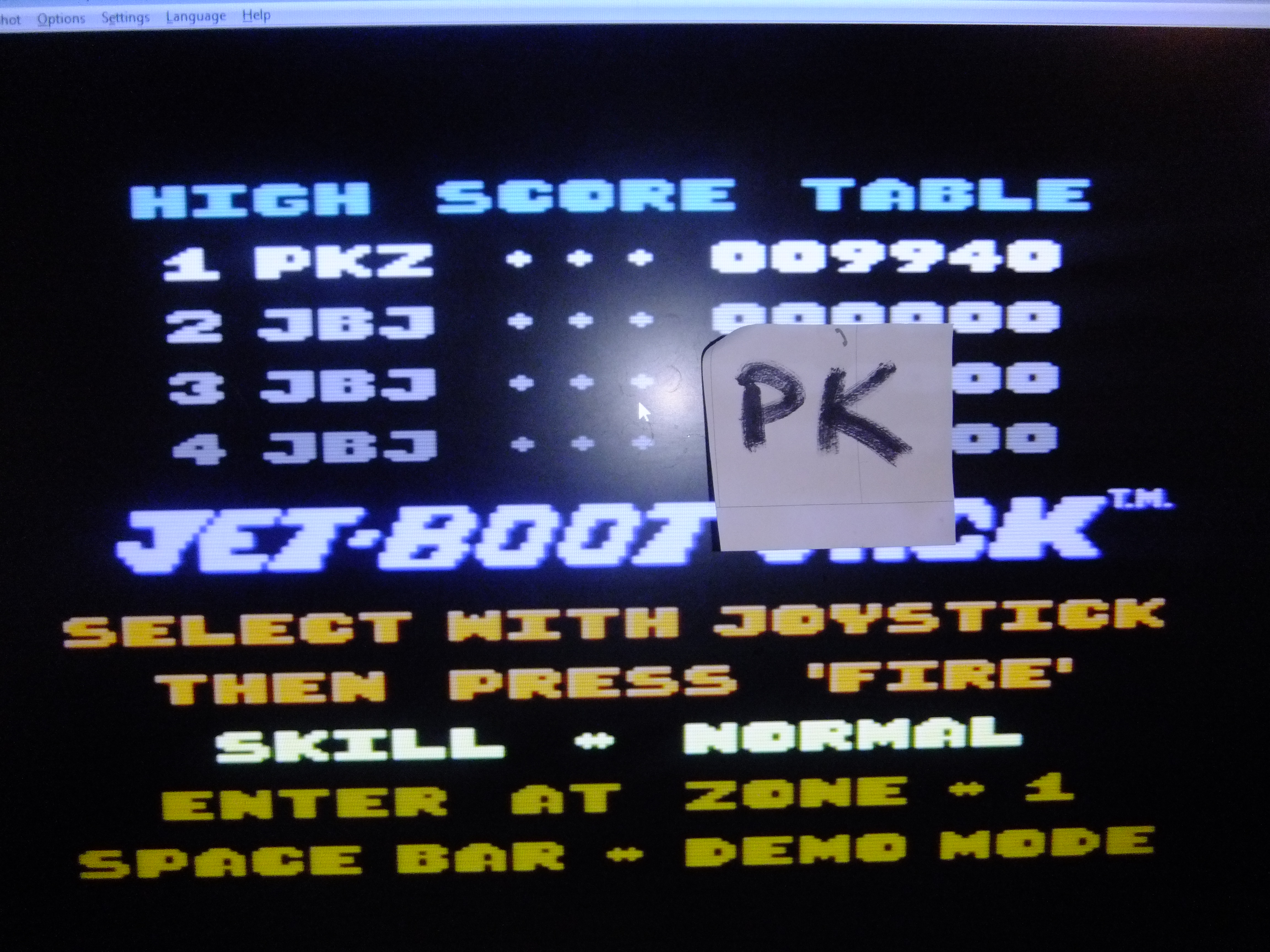 kernzy: The Legend Of Jet-Boot Jack [Normal] (Commodore 64 Emulated) 9,940 points on 2015-11-16 16:06:24