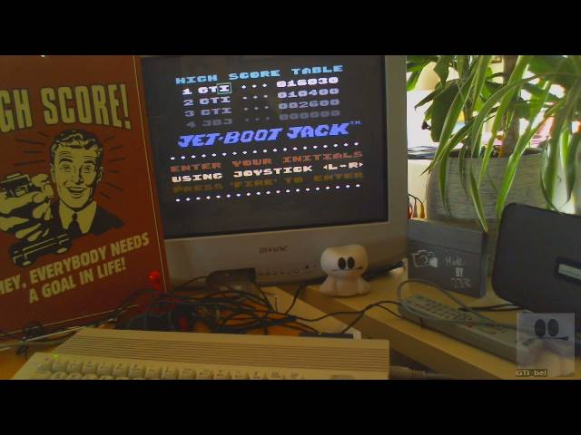 GTibel: The Legend Of Jet-Boot Jack [Normal] (Commodore 64) 16,030 points on 2019-02-15 05:17:15