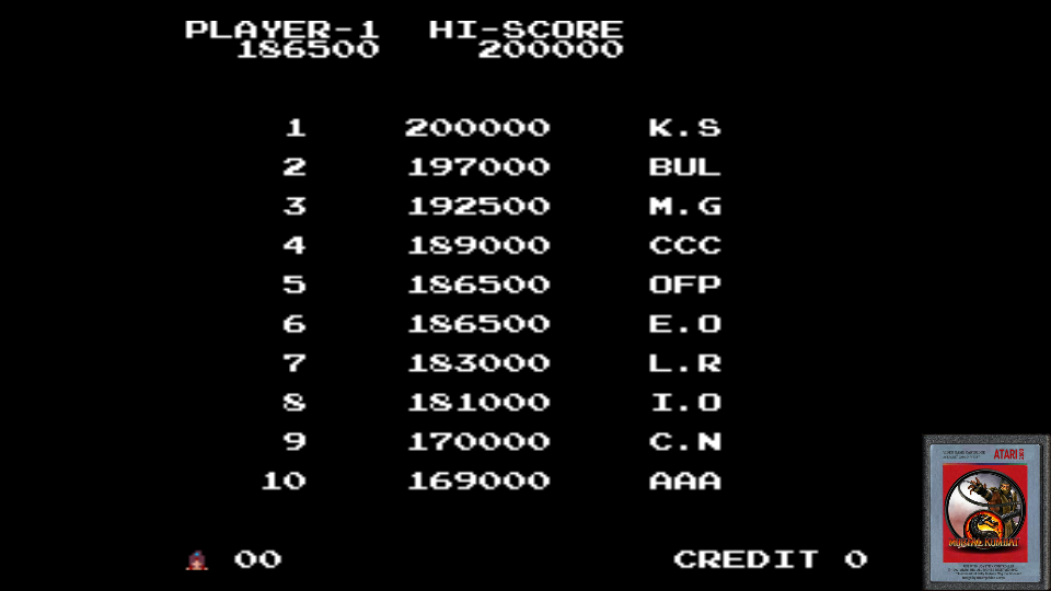 omargeddon: The Legend of Kage (Arcade Emulated / M.A.M.E.) 186,500 points on 2017-06-17 19:10:13