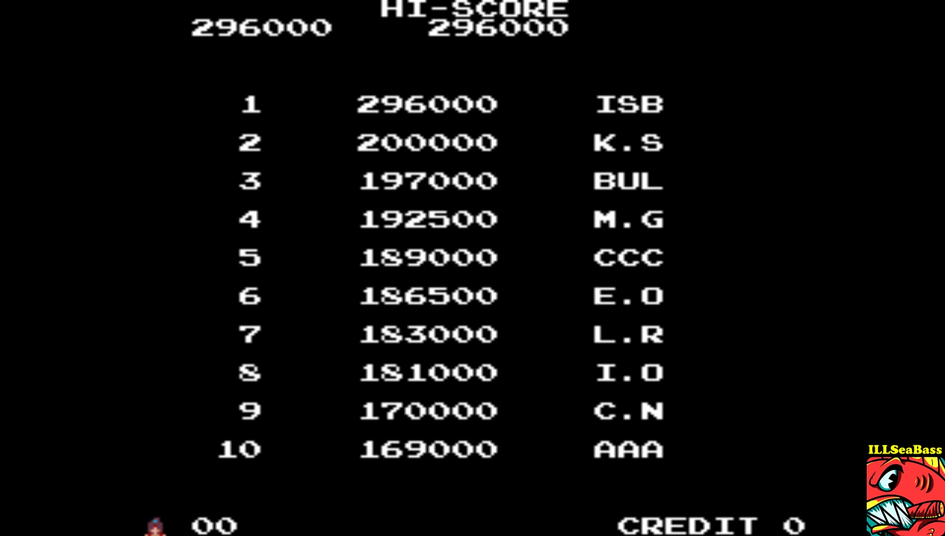 ILLSeaBass: The Legend of Kage (Arcade Emulated / M.A.M.E.) 296,000 points on 2017-06-17 22:10:12