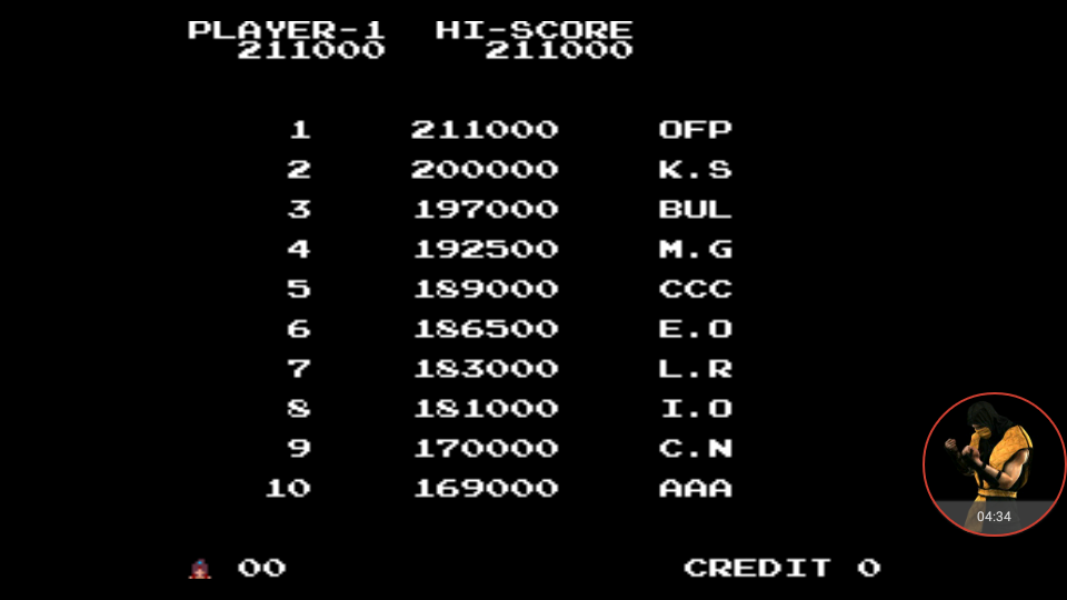 omargeddon: The Legend of Kage (Arcade Emulated / M.A.M.E.) 211,000 points on 2017-12-06 19:01:56