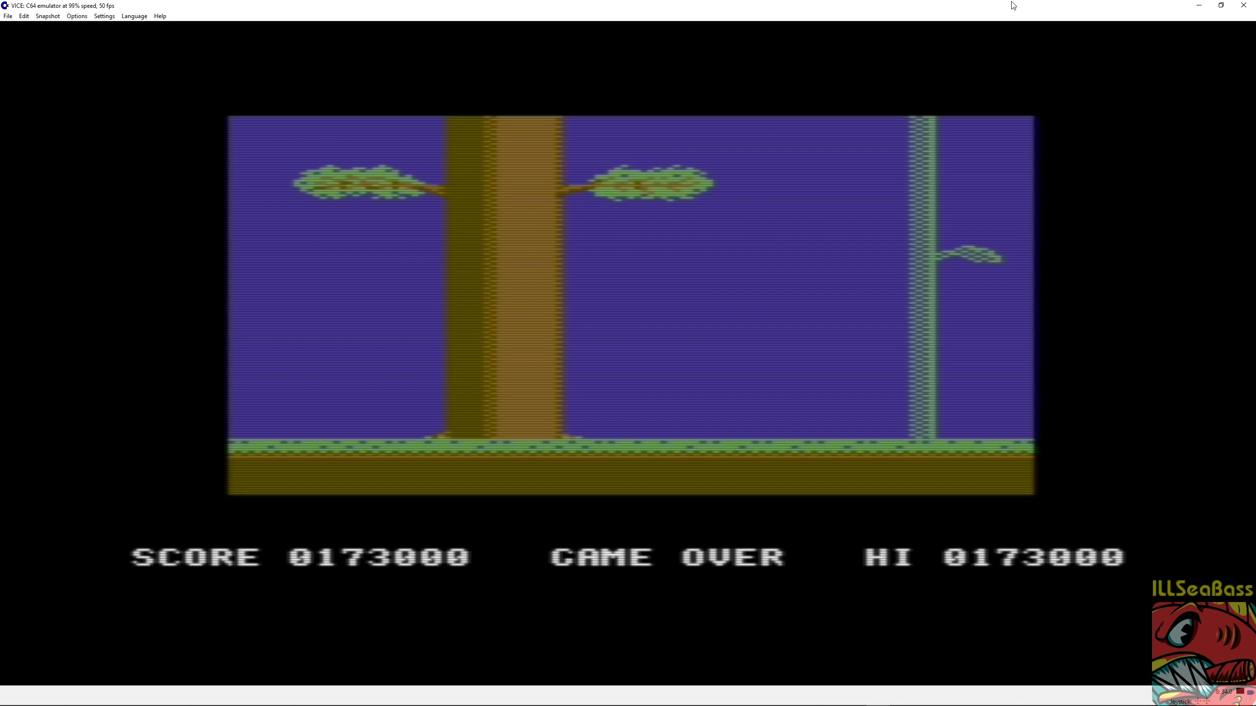 ILLSeaBass: The Legend of Kage (Commodore 64 Emulated) 173,000 points on 2018-05-03 20:22:37