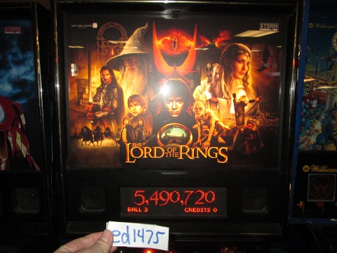 ed1475: The Lord of the Rings (Pinball: 3 Balls) 5,490,720 points on 2017-02-12 15:55:42