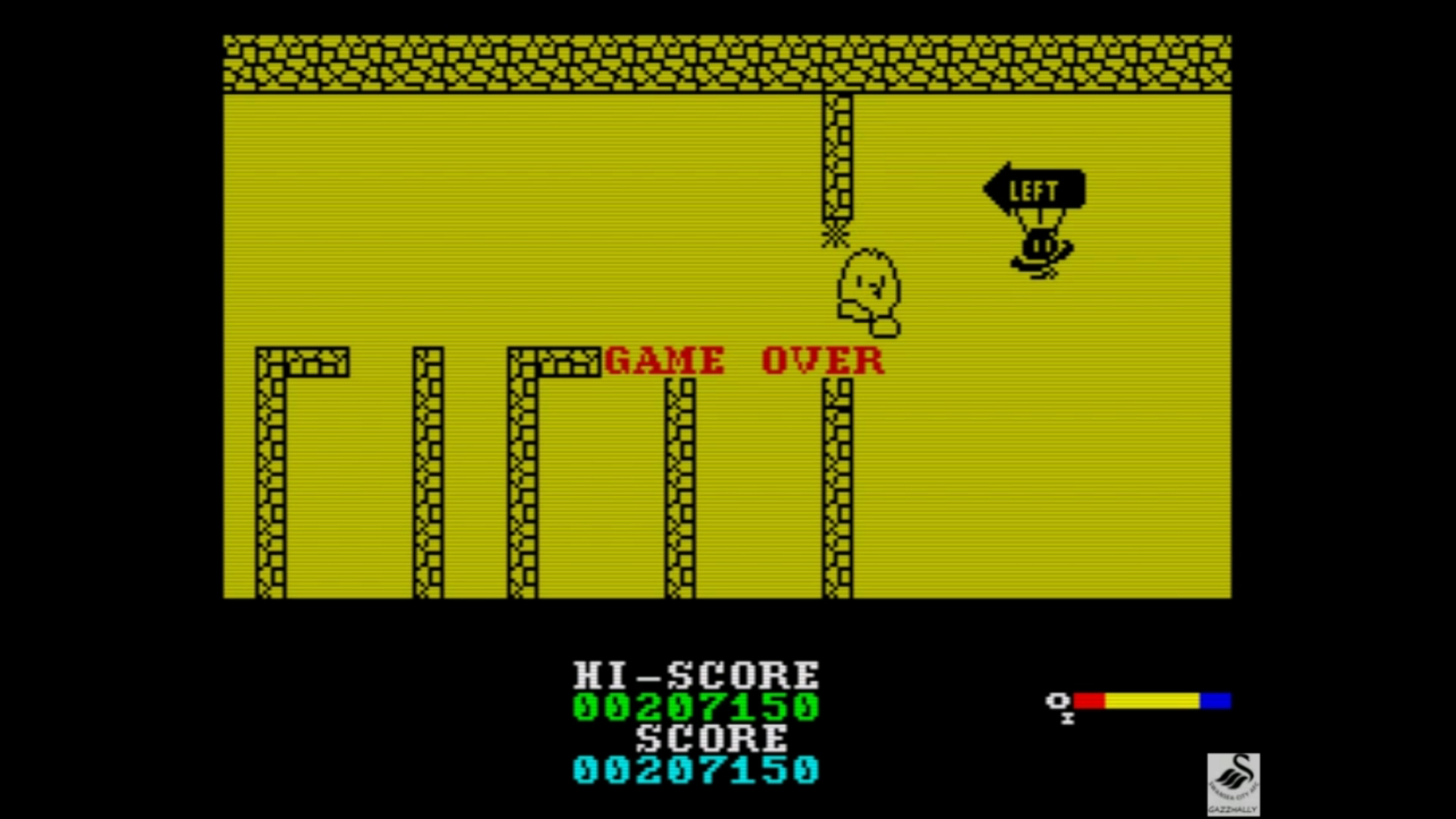 gazzhally: The New Zealand Story [1,000,000 Points Completion Bonus] (ZX Spectrum Emulated) 207,150 points on 2019-07-19 14:41:59