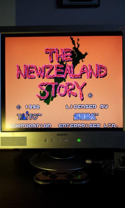 Larquey: The New Zealand Story (Sega Master System Emulated) 38,450 points on 2017-03-12 07:25:07