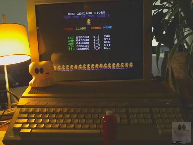 GTibel: The NewZealand Story (Atari ST) 45,500 points on 2019-10-24 02:09:09
