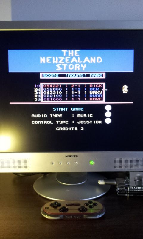 Larquey: The NewZealand Story (Commodore 64 Emulated) 52,800 points on 2017-03-12 07:34:44