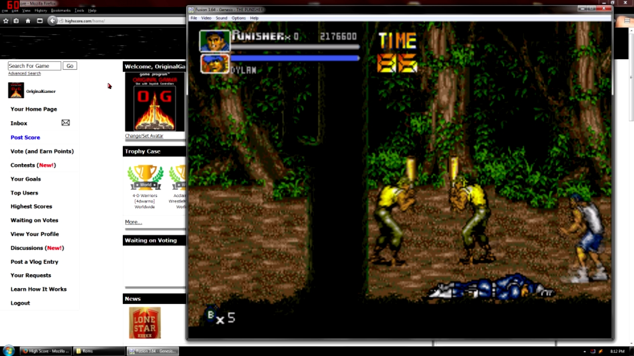OriginalGamer: The Punisher (Sega Genesis / MegaDrive Emulated) 2,176,600 points on 2015-09-07 23:01:43