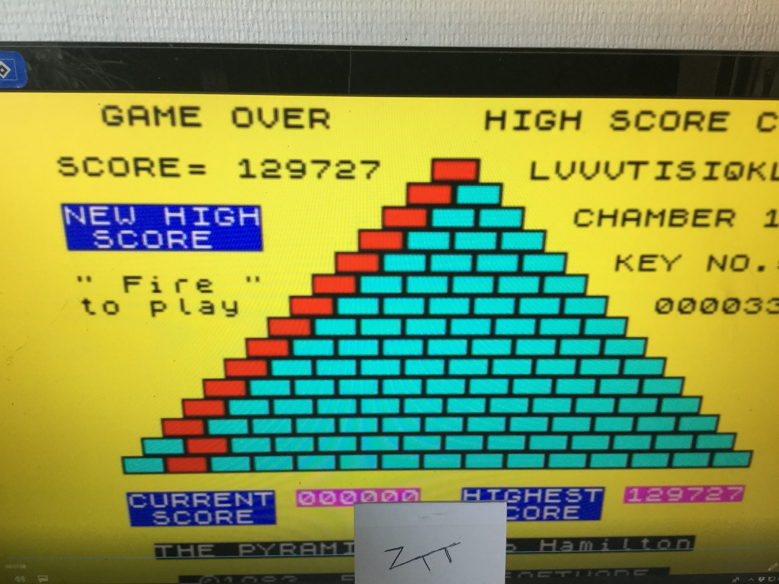 Frankie: The Pyramid (ZX Spectrum Emulated) 129,727 points on 2019-04-27 03:03:04