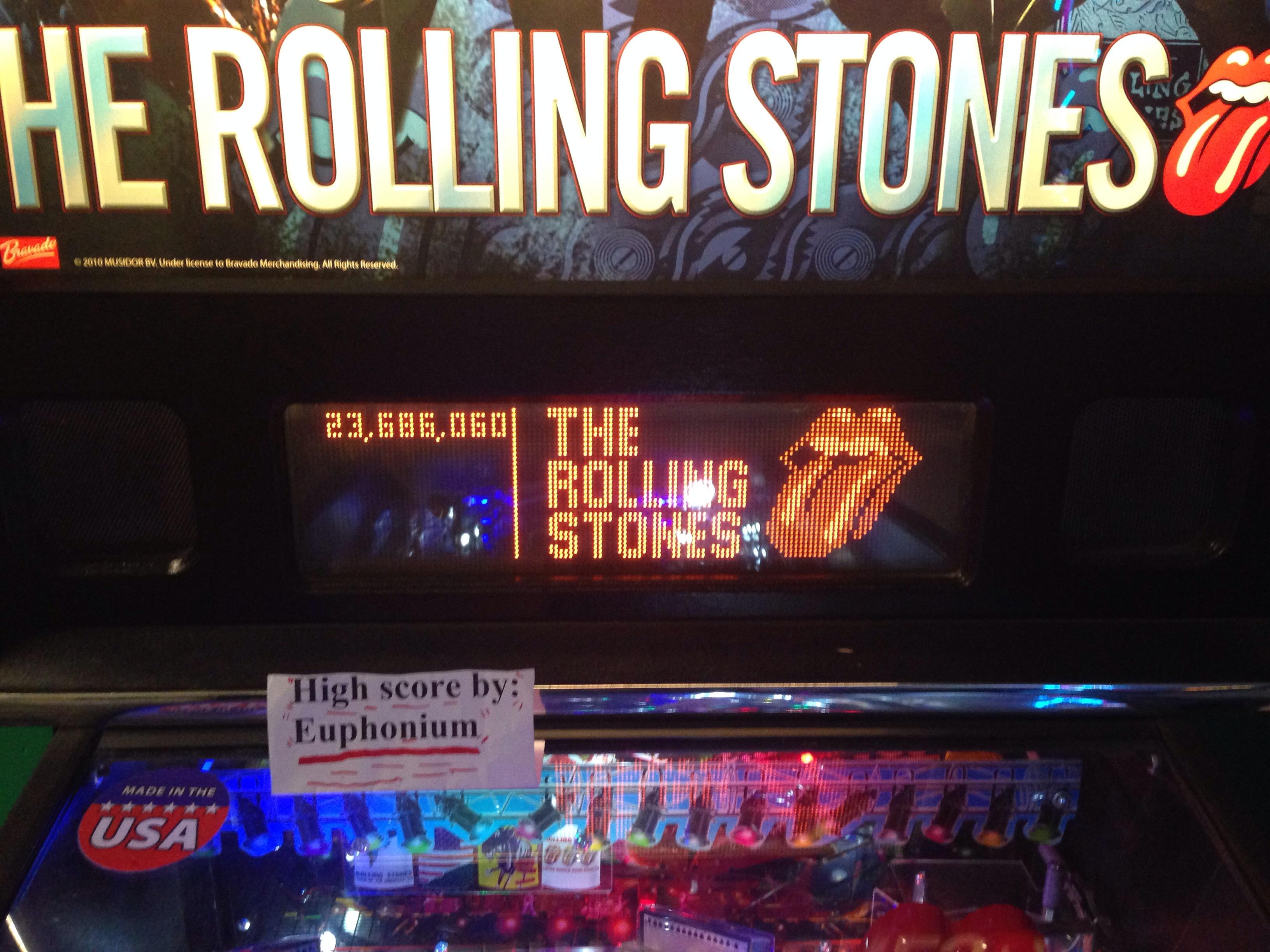 euphonium: The Rolling Stones [Stern Pinball] (Pinball: 3 Balls) 23,686,060 points on 2016-05-24 07:00:25