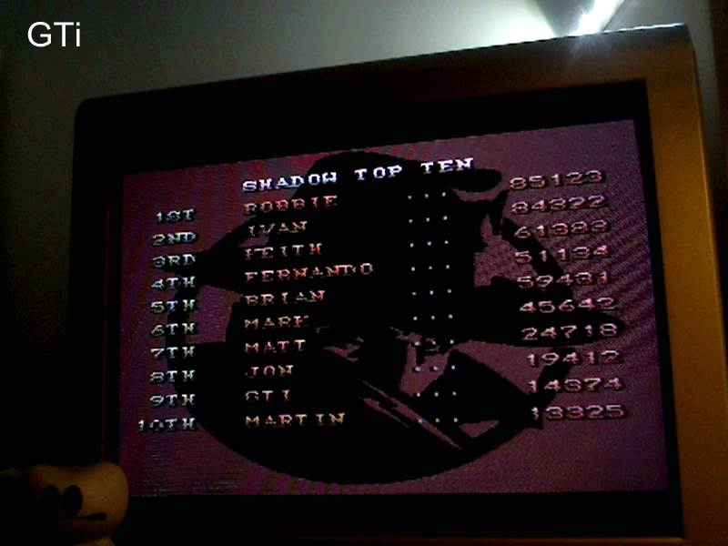 GTibel: The Shadow [Normal/ 3 Lives] (SNES/Super Famicom) 14,374 points on 2016-11-19 02:04:16