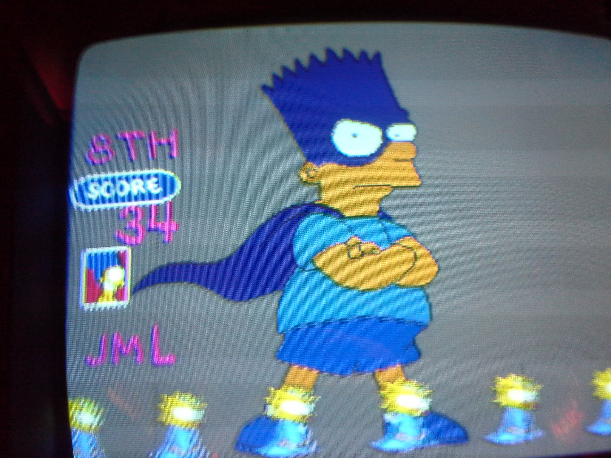 The Simpsons 34 points
