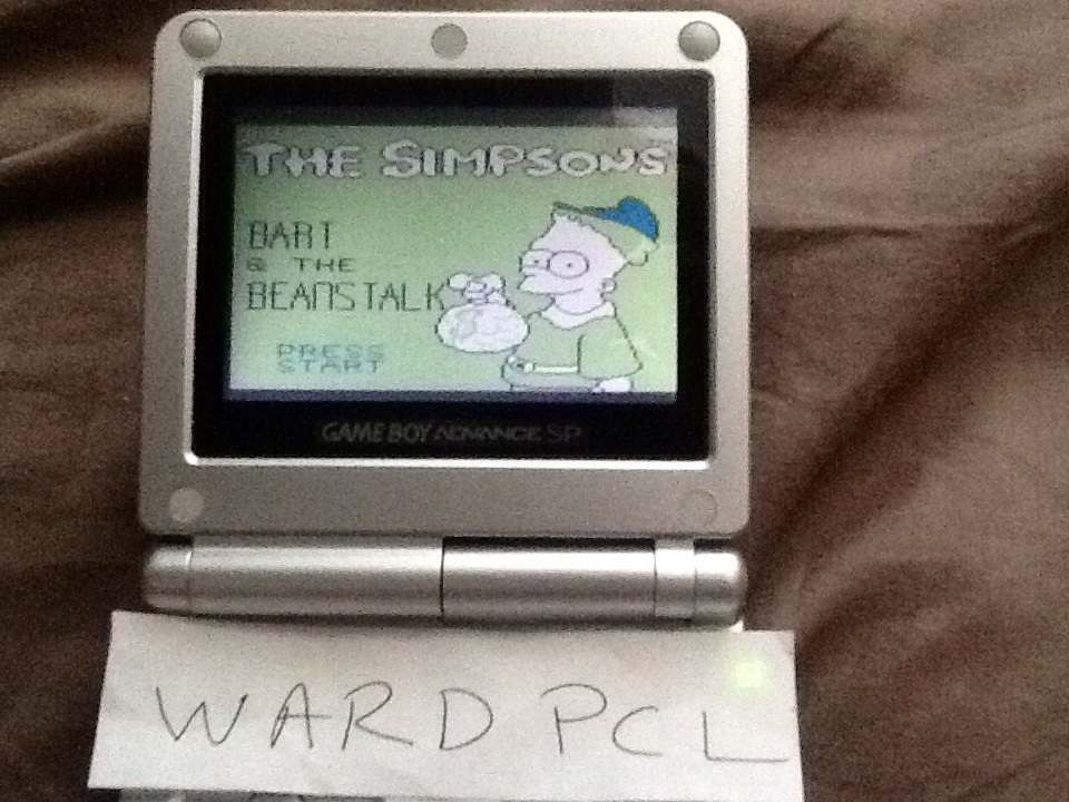 Wardpcl: The Simpsons: Bart And The Beanstalk (Game Boy) 19,900 points on 2015-07-12 14:08:59