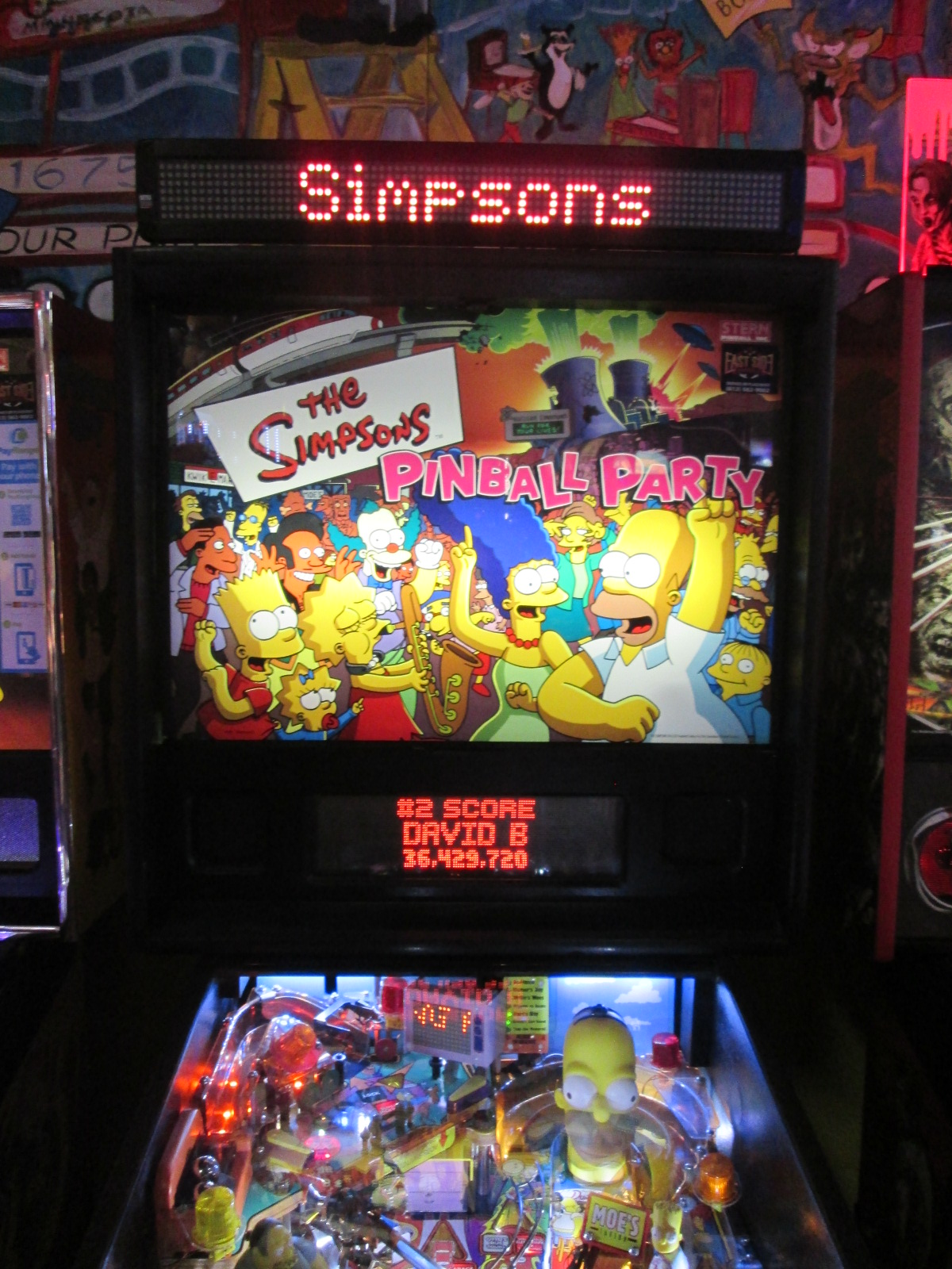 ed1475: The Simpsons Pinball Party (Pinball: 3 Balls) 6,431,110 points on 2016-09-07 00:50:37