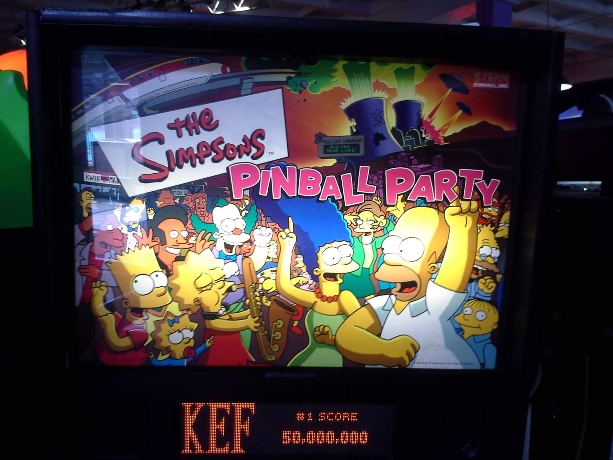 The Simpsons Pinball Party 2,157,910 points
