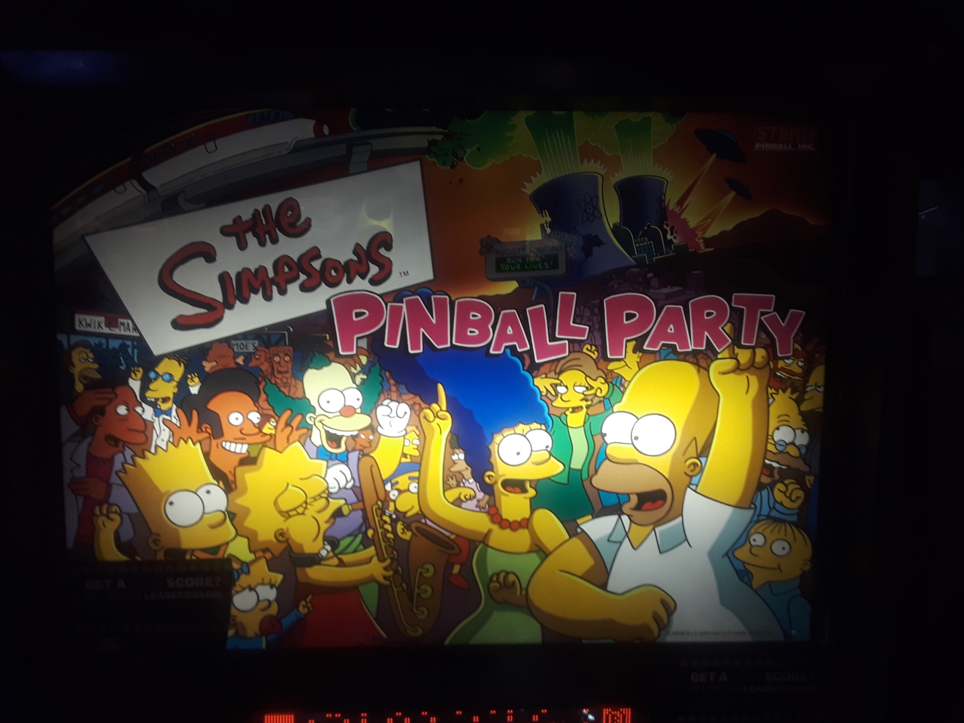 The Simpsons Pinball Party 6,933,650 points