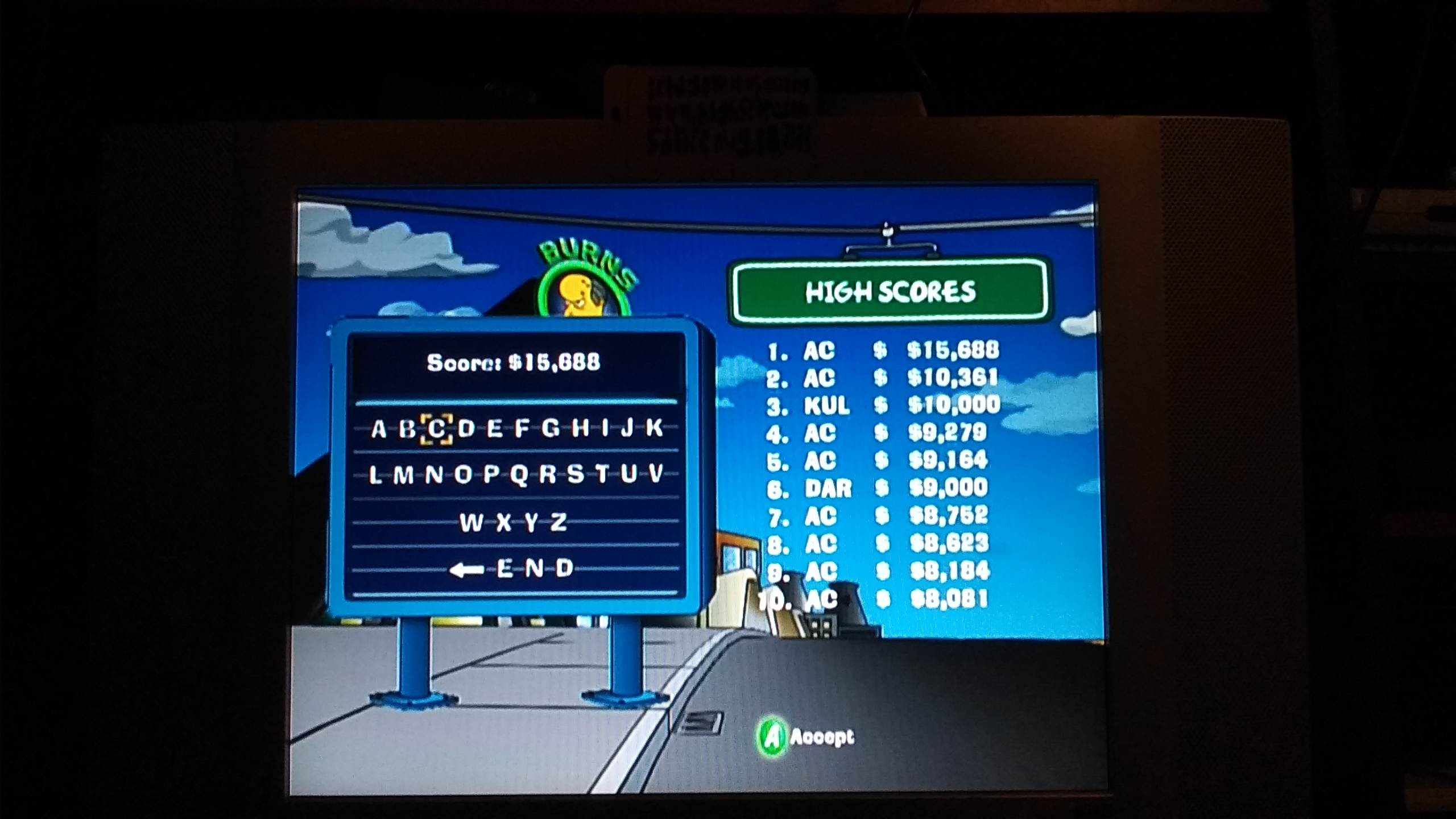 ichigokurosaki1991: The Simpsons Road Rage: Evergreen Terrace [Hard] (Xbox) 15,688 points on 2016-11-29 22:25:49