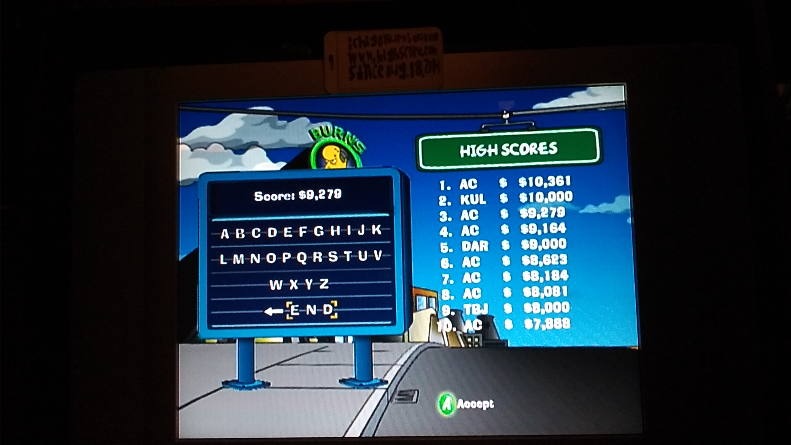 ichigokurosaki1991: The Simpsons Road Rage: Evergreen Terrace [Normal] (Xbox) 9,279 points on 2016-11-29 21:57:48
