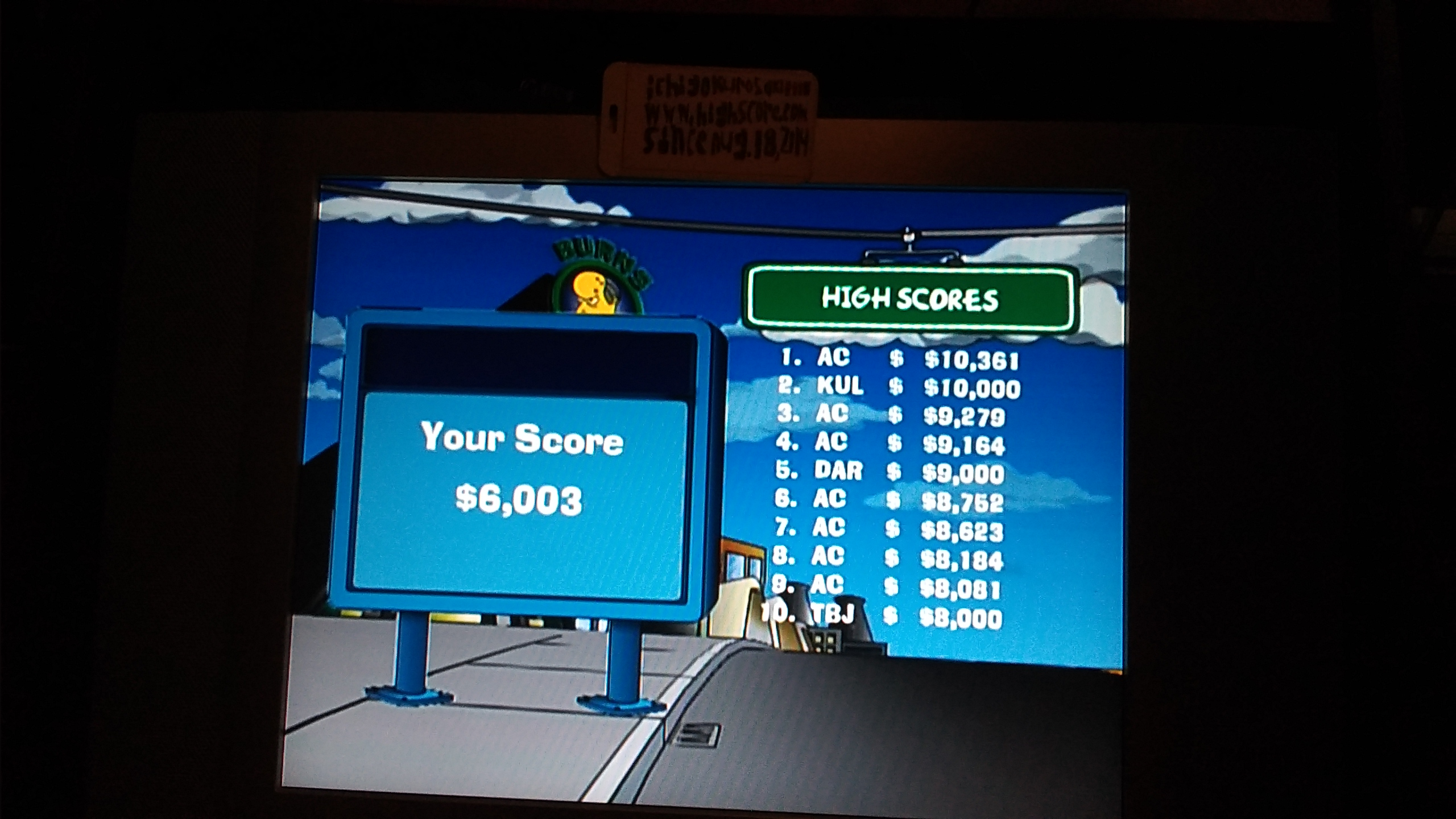 ichigokurosaki1991: The Simpsons Road Rage: Nuclear Power Plant [Normal] (Xbox) 6,003 points on 2016-11-29 21:58:33